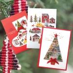 크리스마스카드/성탄절/트리/산타 산타 크리스마스 카드 FS1025 Set123 (3종 한세트)
