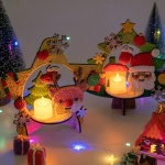 민화샵 크리스마스 입체트리 무드등 만들기 폼클레이
