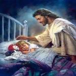 Q3616잠자는아이와예수 size40*50cm DIY그림그리기