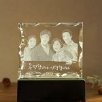 아이스 1 - 부모님감사패 인물입체조각 3D크리스탈