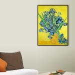 [THE BELLA] 고흐 - 노란 배경에 붓꽃이 있는 정물
