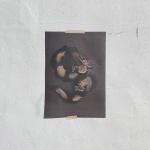 검은 구름 운룡도 빈티지 A3 포스터
