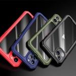 아이폰 xr xs max x 컬러 사각 범퍼 투명 하드 케이스