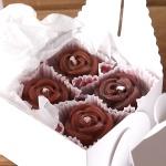 미니 장미 캔들 8P(브라운-클린코튼)