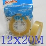 Scalla 아크릴 점착제 사용으로 강력한 접착력을 자랑하는 12mmx20M 스칼라 다용도 테이프 리필 A381-1