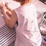 [라지크] RAZK X PANTA TWO ROSE SLEEVELESS (WHITE)