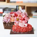 뚜레쥬르 딸기케익+프라린 파스텔(꽃배달,케익배달,케익,생일선물)