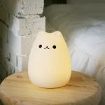 아이린 실리콘 무선 충전식 LED 동물 무드등,고양이