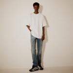 오버핏 시그니처 로고 티셔츠(남여공용) 화이트