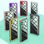 아이폰12/미니/카메라보호 사각 컬러 범퍼 투명케이스