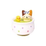 도자기 오르골 목욕하는 고양이