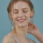 Pearl Crystal Unbalanced Drop earring