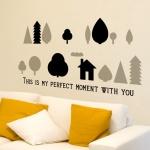 작은숲 (북유럽풍 나무) - 완제품B타입 그래픽스티커