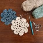 눈꽃 컵받침 - 코바늘 뜨개질 키트