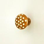 레진 가구손잡이/도어납(doorknob)-초콜릿 도트 1248