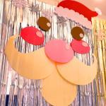크리스마스 대형 펠트 장식세트 (산타)
