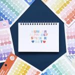 [SET] 기본 스티커 세트_6종 (숫자,알파벳)