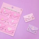 에스더버니 타이니 레터 카드(4가지디자인1세트)