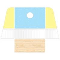 [바우하우스] 청색 벽지 HE-10(멋쟁이 왕자방 벽지)