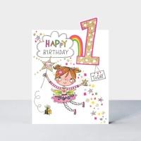한살 아이 생일 카드 - 요정 Age 1 [CHERRY1]