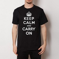 (Unisex) Keep Calm Premium Cotton 5.3 oz T-Shirt - Black