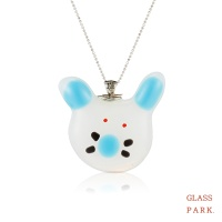 [글라스파크]토끼 유리 목걸이