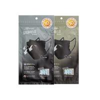 3Q 일회용 휴대용 마스크 [10매] 블랙