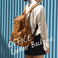OFFICE LEATHER BACKPACK 오피스 레더 백팩