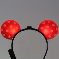 LED점등 미키머리띠 (레드)