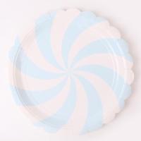 롤리팝 파티접시 23cm - 라이트블루(6입)