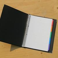 [KOKUYO] 금속링이 장착된 A4 합지 루스리프 화일-일본 고쿠요 30공 바인더노트 Color Palette HB854