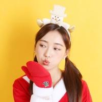 크리스마스 블론드 머리띠 (눈사람)