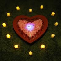 비누장미(대)+LED촛불 조명세트