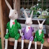 토끼 원목 관절 인형
