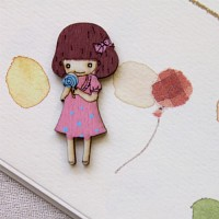 단발머리핑크소녀(소)