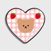 Dot strawberry check-pink(하트톡)