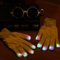 LED장갑 화이트 [3색점등]