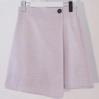 Check Wrap Skirt(WH)