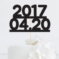 [인디고샵] 년월일 맞춤 케이크토퍼