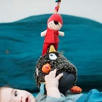 [에불로보] 프랑스 애착인형 울프 룰루 뮤지컬 모자