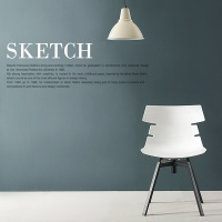 퍼피노 스케치 회전형 디자인 체어 ps623