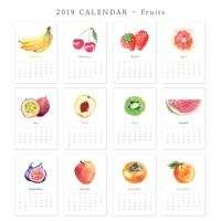 [2019 CALENDAR] Fruits