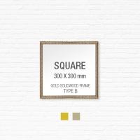 [골드원목프레임] 골드 액자 Type B - 정사각형 30X30