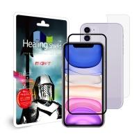아이폰11 3D풀커버 강화유리1+후면1+카메라필름6-블랙