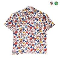 Retro Mix Flower Shirt(2color)