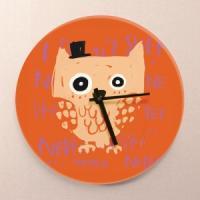 고급 디자인벽시계 부엉부엉30cm