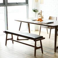 [채우리] 레이 4인 와이드 원목 식탁세트(벤치)