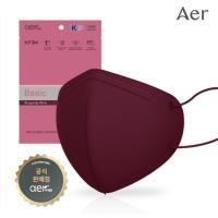[주말쿠폰] 아에르 KF94 컬러마스크 와인 10매