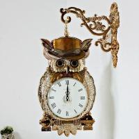 (kmkz0430)골든키 부엉이양면시계 (골드)