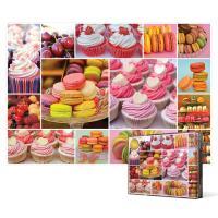 1000피스 직소퍼즐 - 컵 케이크과 마카롱